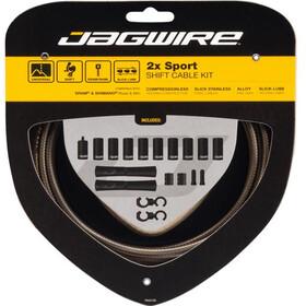 Jagwire 2X Sport Shift Set Cable Cambio para Shimano/SRAM, Plateado